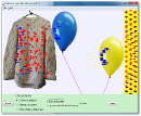 Screenshot of the simulation Ballonnen en statische elektriciteit