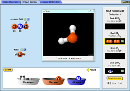 Screenshot of the simulation Construire une molécule