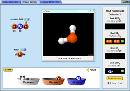 Screenshot of the simulation Construye una molécula