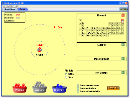 Screenshot of the simulation Atom üretme