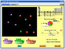 Screenshot of the simulation Isótopos y Masa atómica