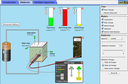 Screenshot of the simulation Laboratorio de capacitores