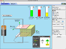 Screenshot of the simulation Laboratorul cu condensatoare