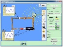 Screenshot of the simulation Kit per circuiti elettrici (corrente continua e alternata)