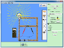Screenshot of the simulation Kit per circuiti elettrici (corrente continua)