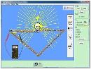 Screenshot of the simulation (DC) آزمایشگاه مجازی ساخت مدار