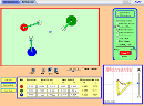 Screenshot of the simulation Stød-laboratorium