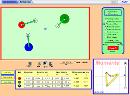 Screenshot of the simulation آزمایشگاه برخورد