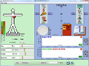 Screenshot of the simulation Alimentation et Exercice