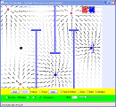 Screenshot of the simulation Electric Field Hockey