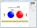 Screenshot of the simulation Gravitační laboratoř