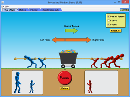Screenshot of the simulation Forces and Motion: Basics