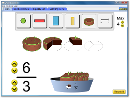 Screenshot of the simulation Introduction aux fractions