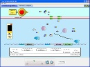Screenshot of the simulation Gene Machine: The Lac Operon
