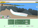 Screenshot of the simulation Glaciers