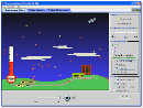 Screenshot of the simulation 大気の温室効果
