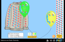 Screenshot of the simulation Globos y Electricidad Estática