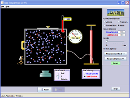 Screenshot of the simulation Propriétés d'un gaz parfait