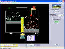 Screenshot of the simulation Diffusion d'un gaz avec barrière