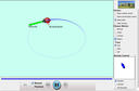 Screenshot of the simulation Ladybug Motion 2D