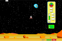 Screenshot of the simulation Módulo de Pouso Lunar