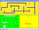 Screenshot of the simulation Vektorgolf