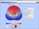 Screenshot of the simulation Polarit molecolare