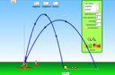 Screenshot of the simulation 放物運動(Projectile Motion)