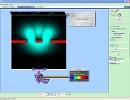 Screenshot of the simulation تداخل موج کوانتومی