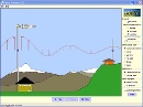 Screenshot of the simulation Radioblger &amp; elektromagnetiske felter