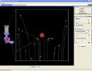 Screenshot of the simulation Rutherford spredning