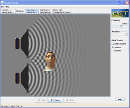 Screenshot of the simulation Ääni