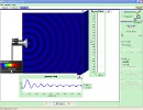 Screenshot of the simulation Ondes et intrfrences